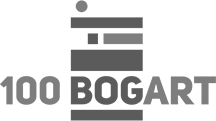 100 Bogart Logo Color Black and White